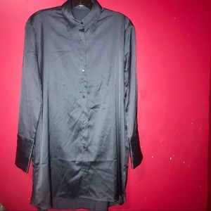 🦋 MNG Suit silk blue button up shirt 🦋💫